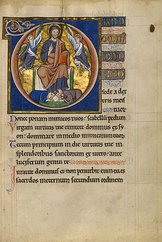 """Christ Enthroned"" - Master of the Ingeborg Psalter"
