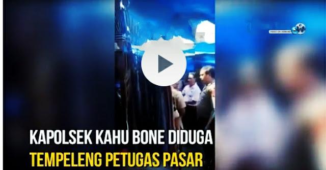 Polisi tampar petugas pasar