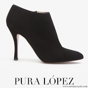 Crown Princess Mary wore Pura López Low Cut High Heel Bootie