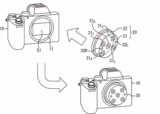 Схема установки объектива для создания нескольких изображений