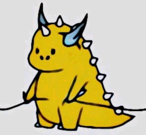 Dino Kuning TikTok