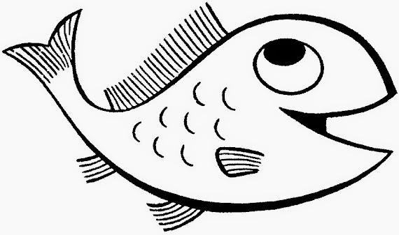 (Ücretsiz yazdırılabilir) Küçük Balık Resmi Boyama