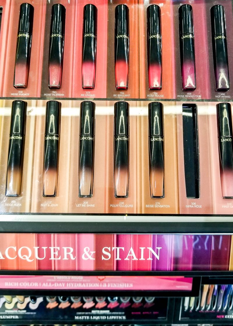 Lancome L'Absolu Lip Lacquers - Swatches