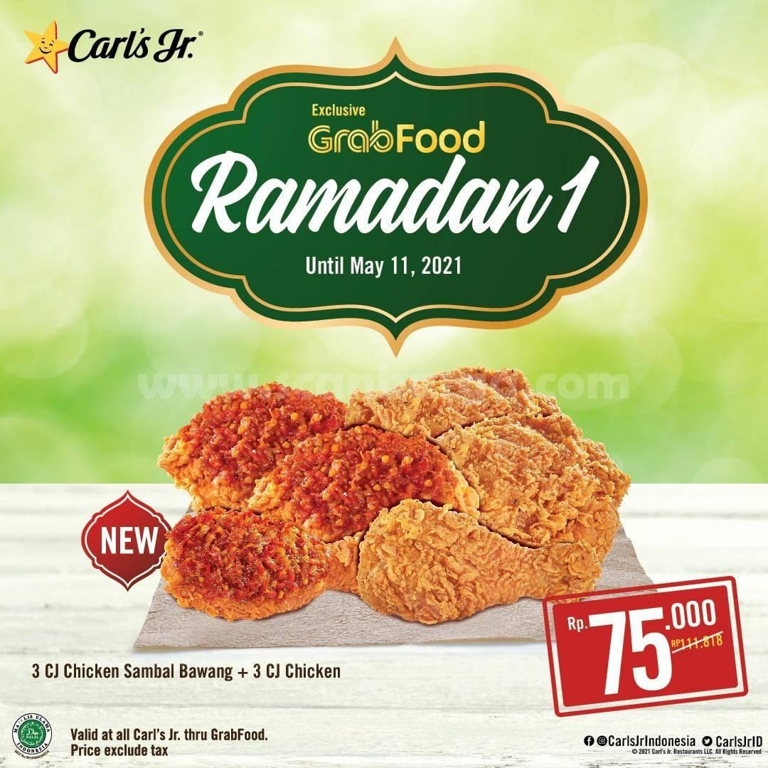 CARLS JR Promo PAKET RAMADAN – Harga mulai Rp 75.000 via GRABFOOD