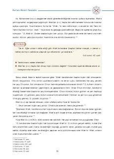 8. Sınıf Kuranı Kerim Ders Kitabı Cevapları Dikey Yayınları Sayfa 15