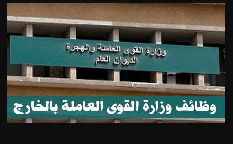 وظائف وزارة القوى العاملة للمصريين للعمل بالدول العربية براتب يصل 10 الاف جنيه - تقدم الان