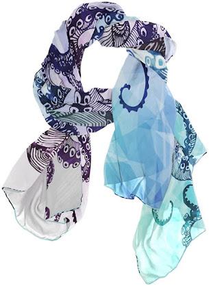 Unique Soft Silk Chiffon Scarves Shawls