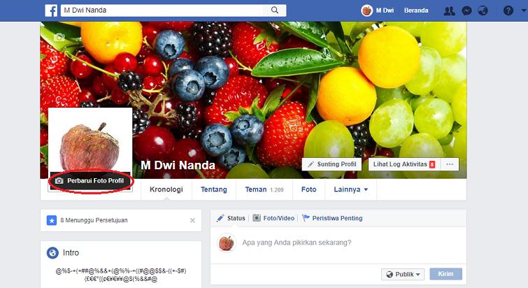 memberi bingkai foto profil facebook 1