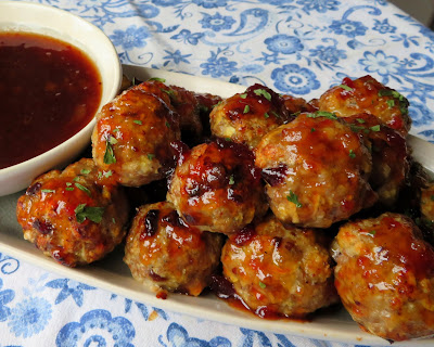 Cranberry & Apple Turkey Meatballs