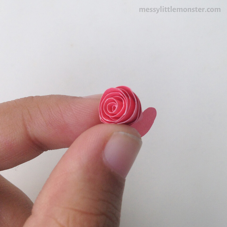 paper rose craft for kids