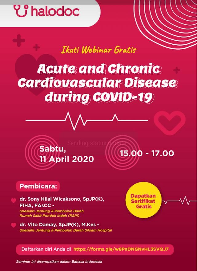 "Halodoc akan mengadakan Webinar dengan topik ""Diagnostic Measures - COVID 19"""
