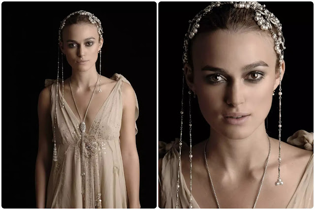 Keira Knightley Hairstyle With Jewelry