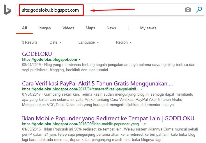 Butuh Waktu Berapa Lama Agar Blog Terindeks Bing Webmaster Tools?