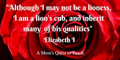 Rose with Elizabeth I Quote