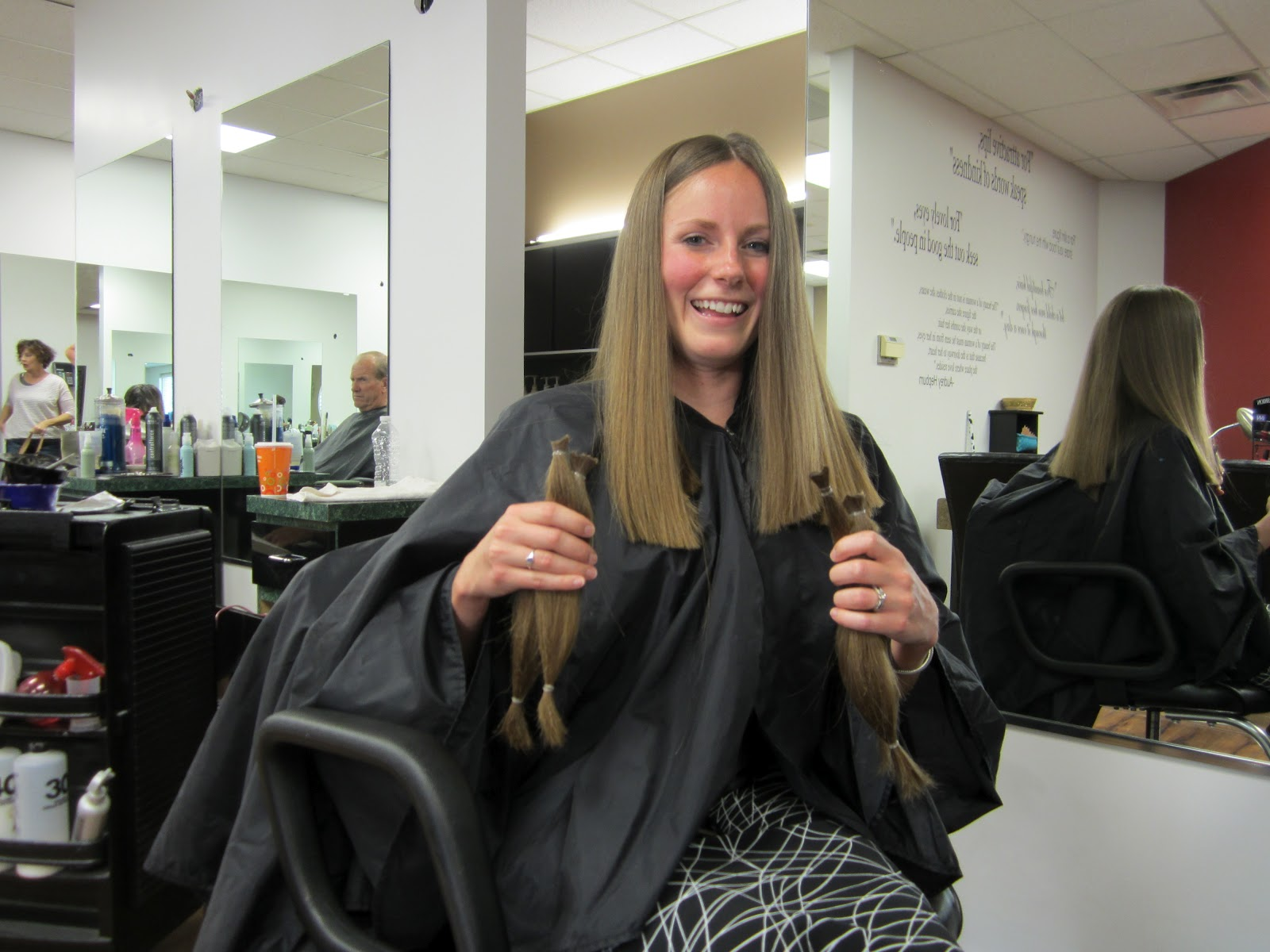 Our Beck Treks Hair For Her Before Amp After Donation