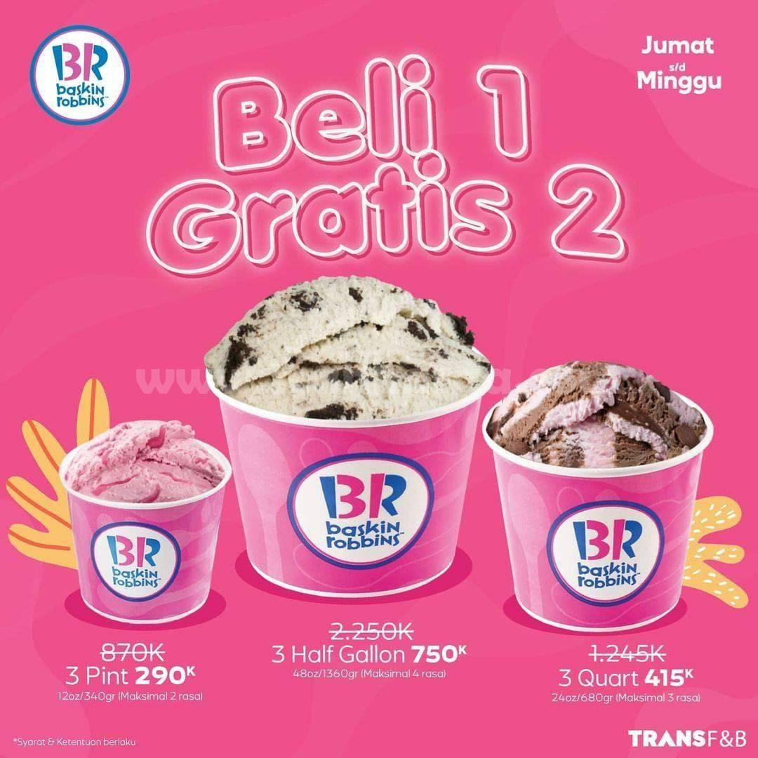 BASKIN ROBBINS Promo Special Weekend! Beli 1 Gratis 2 Product Fresh Pack