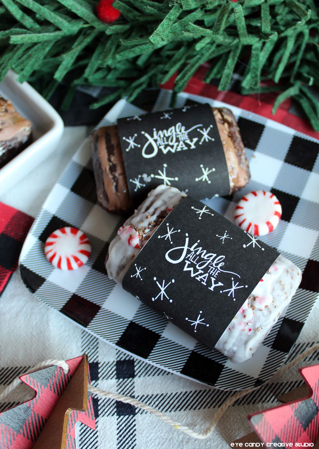 jingle all the way, free holiday printable, peppermint bread, christmas