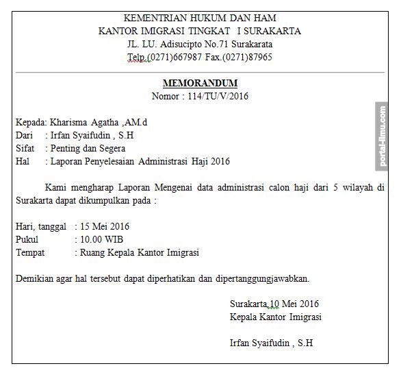 29+ Contoh surat dinas memo terbaru terbaru
