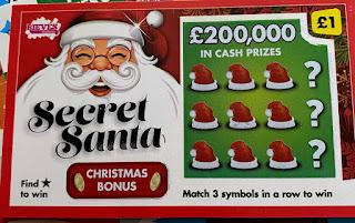 £1 Secret Santa Scratchcard