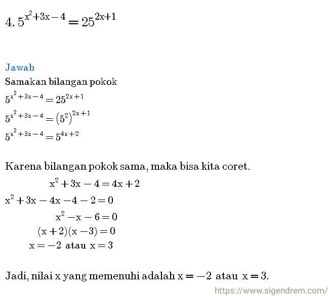 Contoh Soal dan Pembahasan   Persamaan dan Pertidaksamaan Eksponen ... a83bbb24e3