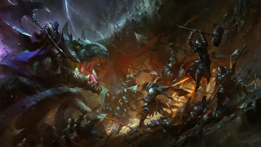 Epic, Fantasy, Warrior, Battle, 4K, #6.2524
