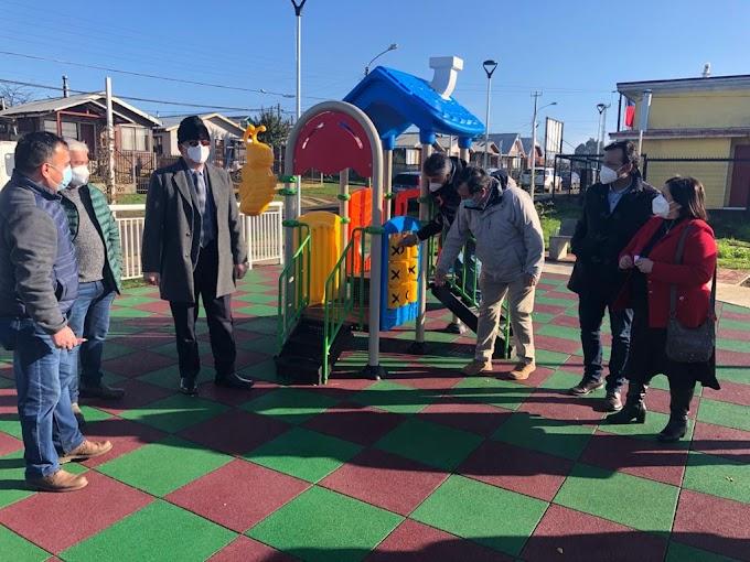 """Municipio inauguro anhelada plaza """"El Mirador"""", de Villa Panorámica, en rahue alto"""