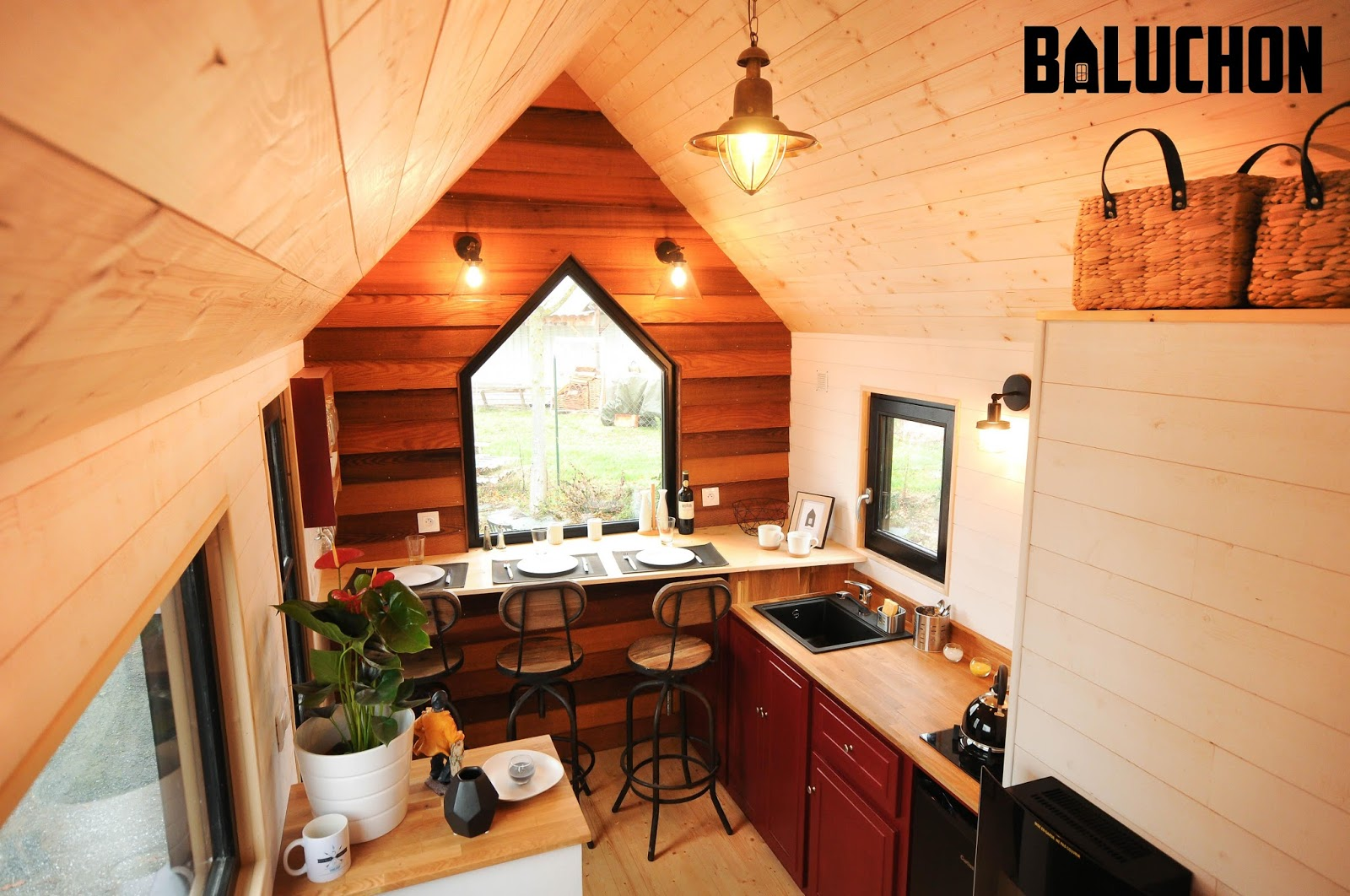 Tiny Home Designs: TINY HOUSE TOWN: The Calypso Tiny House From Baluchon