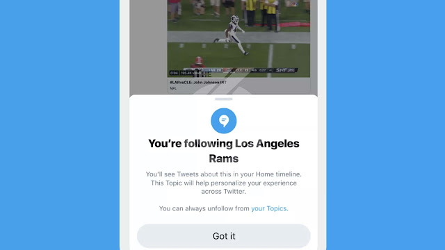 Twitter now allows you to subscribe to topics rather than people