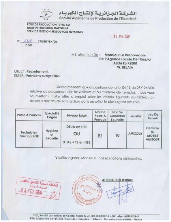 الشركة الجزائرية  لانتاج الكهرباء