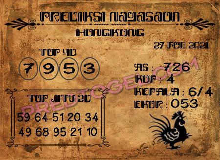 Prediksi Nagasaon Hk Sabtu 27 Februari 2021