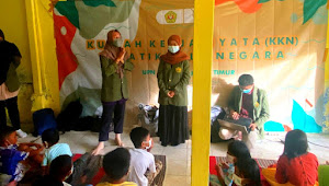 """Mahasiswa KKN Kelompok 37 UPN Veteran Jawa Timur Berikan Edukasi """"Gerakan 5M"""" Untuk  Anak-Anak Di Masa Pandemi"""