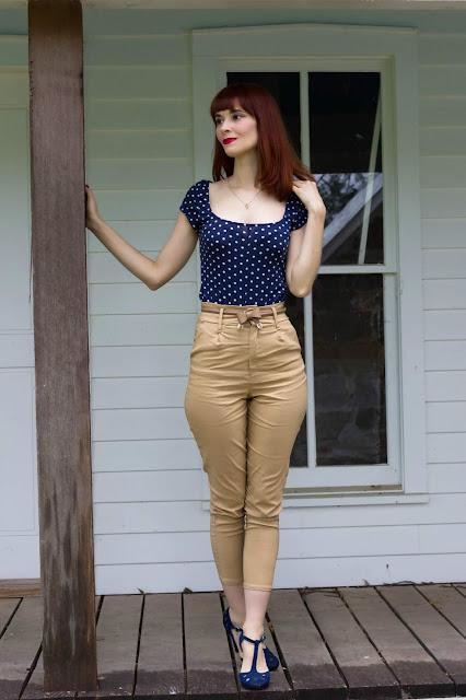 Camel High Waisted Slim Leg Trousers – Katrina from FemmeLuxeFinery