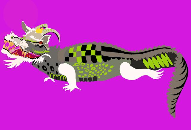 Cartoon of a crocodile and goat chromosplice