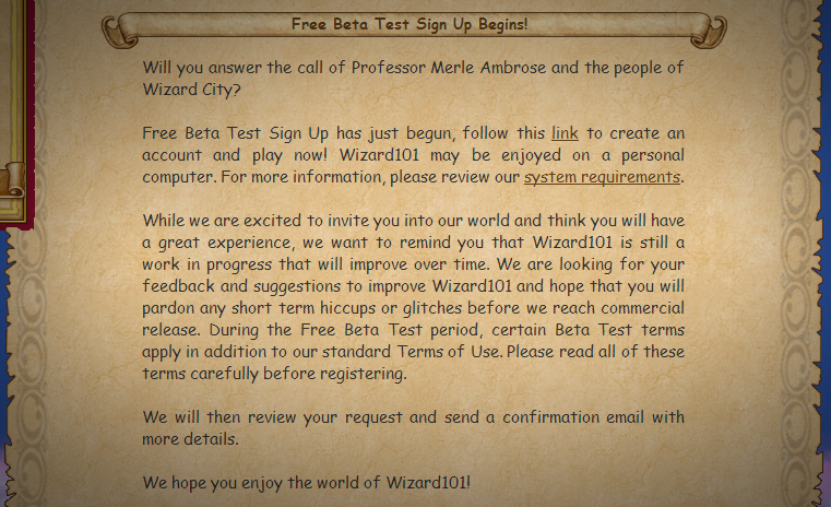Wizard101 Beta Picture