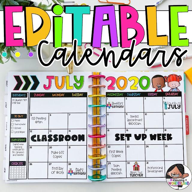 Teacher Calendar