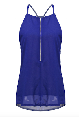 Blue Chiffon Top Banggood - A Glimpse of Glam