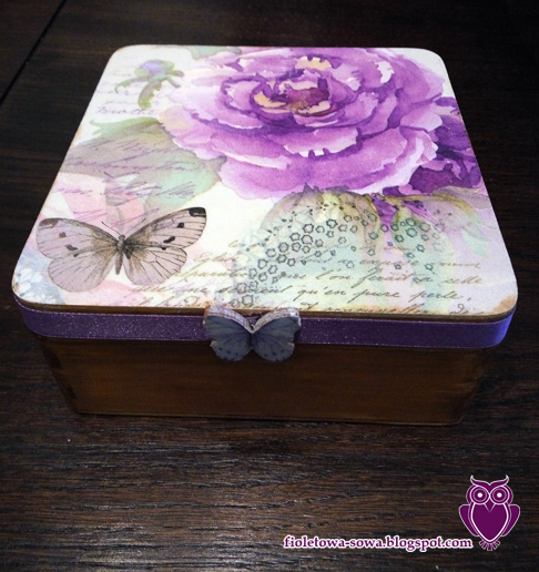 decoupage rose butterfly