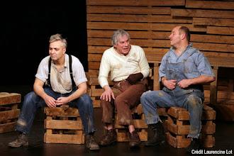Théâtre : Des souris et des hommes - D'après John Steinbeck - Avec Jean-Philippe Evariste et Philippe Ivancic - La Michodière