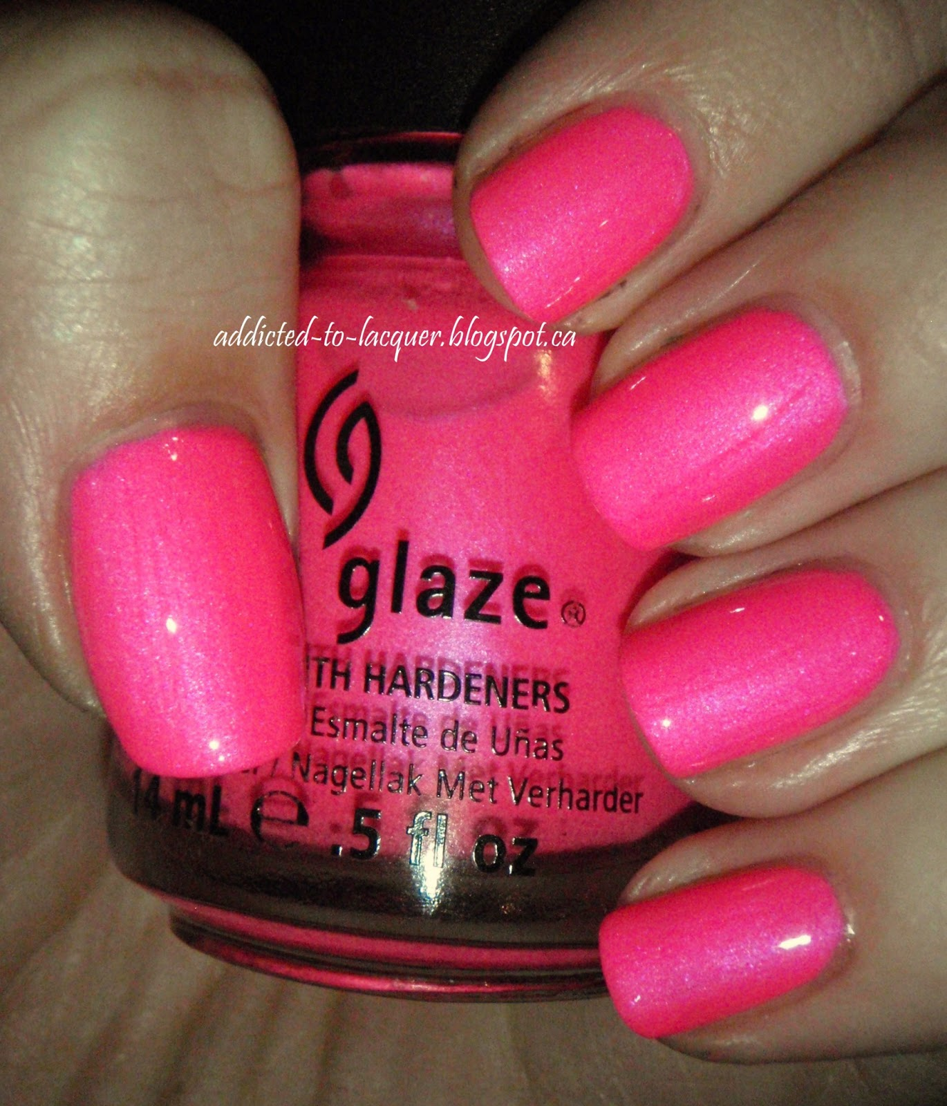 Addicted To Lacquer China Glaze Pink Voltage