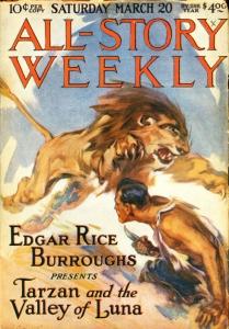 Tarzan a vadember az All-Story Weeks magazinban
