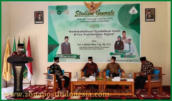 STIT Togo Ambarsari Bondowoso, Gelar Studium General Bersama Prof. H. Masdar Hilmy, S.Ag, MA,. Ph.D, Rektor UINSA Surabaya