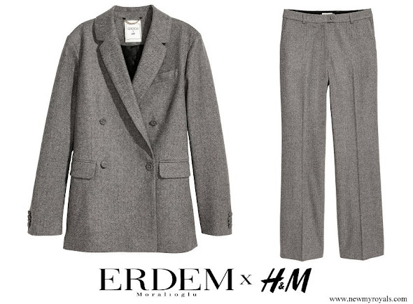 Princess Victoria wore ERDEM and H&M Wool Pantsuit