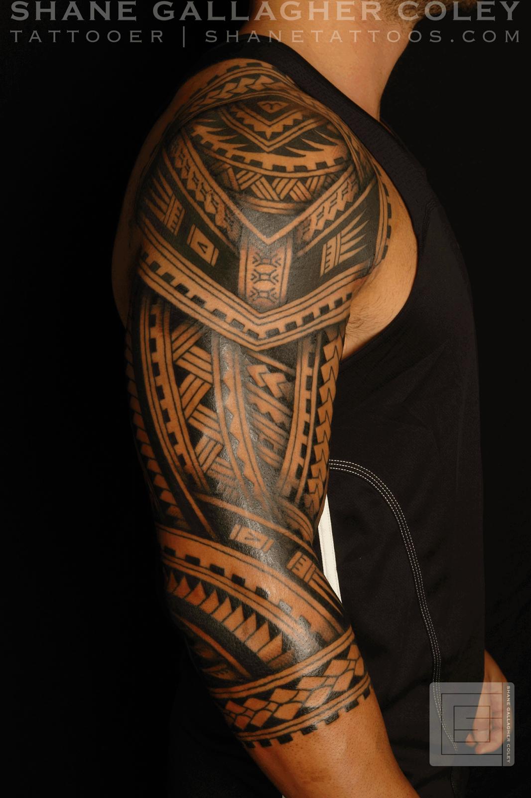 Maori Polynesian Tattoo Polynesian Sleeve Tatau Tattoo