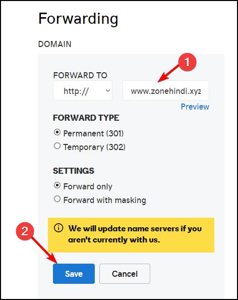 save-domain-forwarding-setting