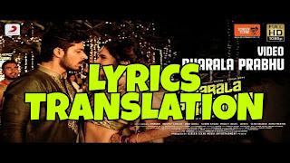 Dharala Prabhu Title Track Lyrics Meaning/Translation in Hindi (हिंदी) – Anirudh Ravichander Prabhu Title Track Lyrics in English | With Translation | – Anirudh Ravichander
