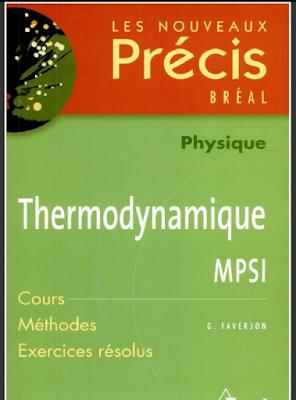 Télécharger précis de Thermodynamique MPSI - PDF gratuitement