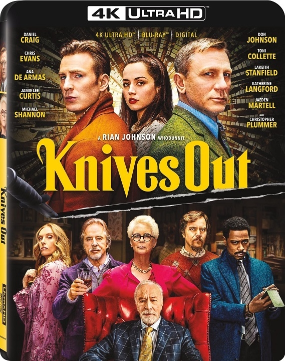 Knives Out arrives on 4K, Blu-ray, DVD, and On Demand Feb 25 (Lionsgate)