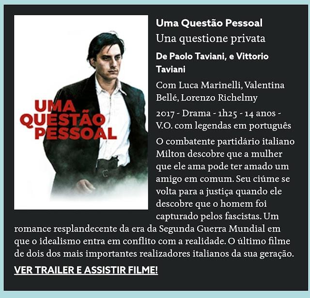 """Filme Italiano """"Uma Questão Pessoal"""""""