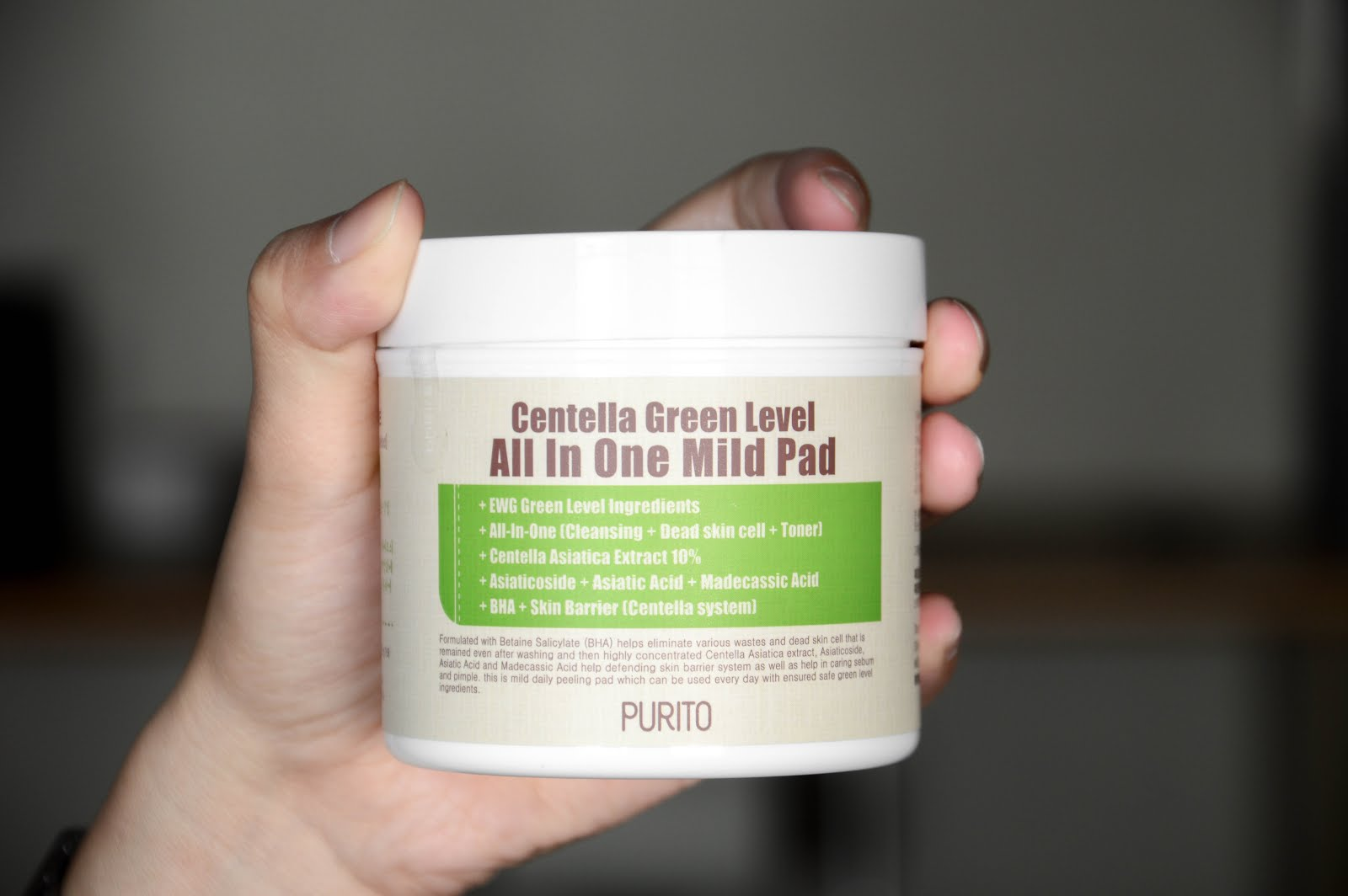 Purito Centella Green Level All In One Mild Pad review