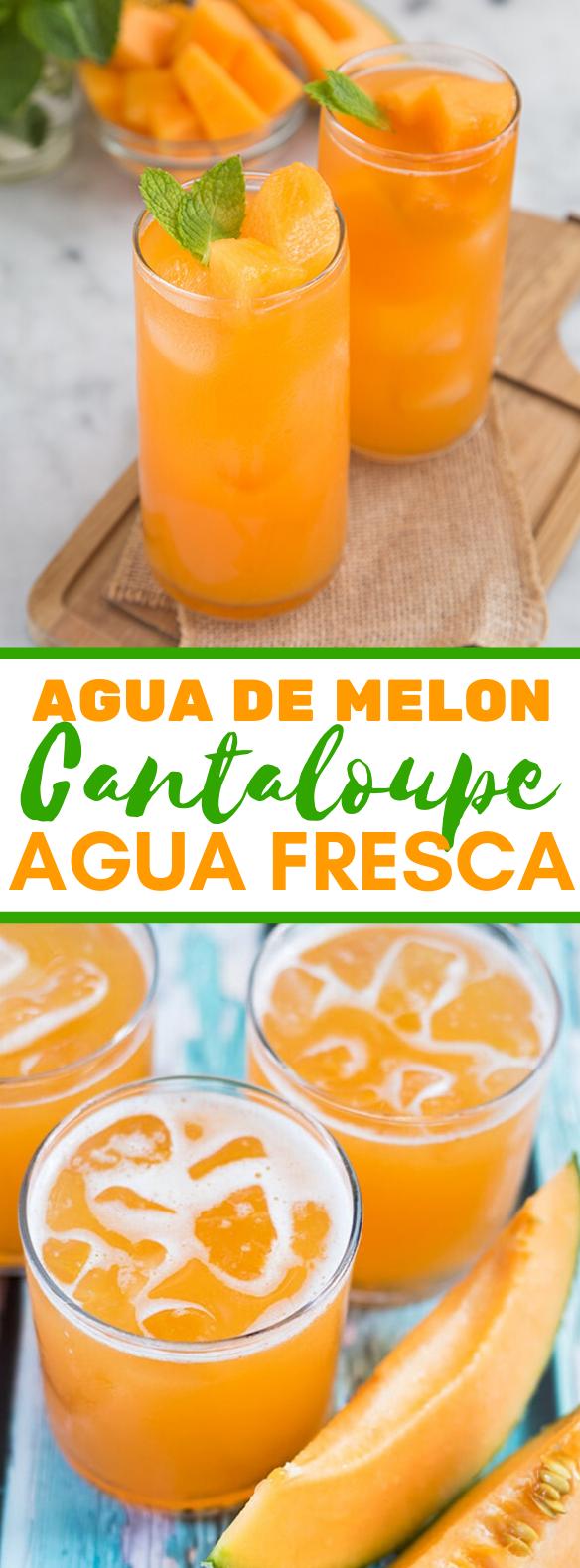CANTALOUPE AGUA FRESCA/AGUA DE MELON #drinks #fruit
